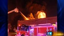 Bronzeville fire causes roof collapse, damages businesses