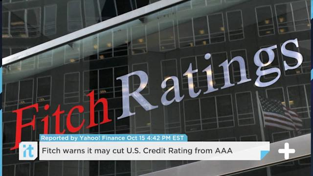Fitch Warns It May Cut U.S. Credit Rating From AAA