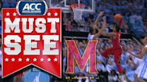 Maryland's Nick Faust Great Dribble and Jam vs UNC | ACC Must See Moment