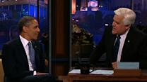 Obama on Leno Discusses Hillary, Trayvon Martin
