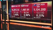 Asian shares open in the red