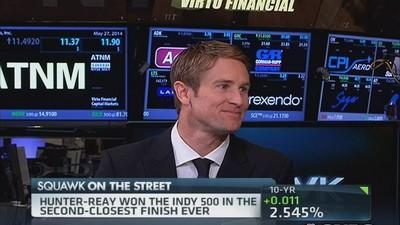 Indy 500 winner Hunter-Reay at NYSE