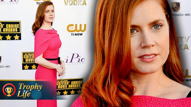 Amy Adams Pretty in Pink Critics Choice Movie Awards 2014