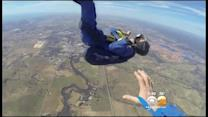 Skydiver Saved By Instructor During Mid-Air Seizure