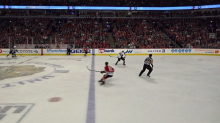 Blackhawks score at will after offside challenge goes against Avalanche