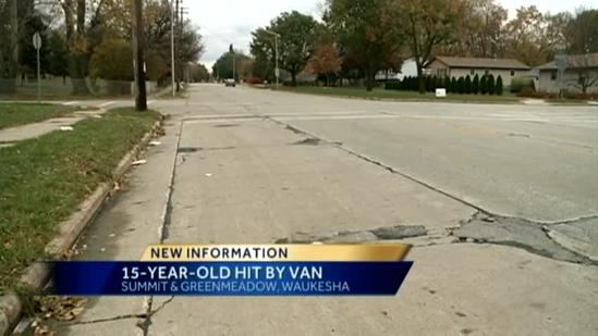 Teen struck near Waukesha North High School