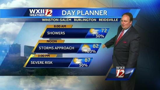 Thursday's soaking forecast