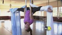 Aerial Yoga turns fitness upside down