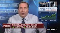 Toyota Feb. sales up 13.3% vs. 16.0% est.