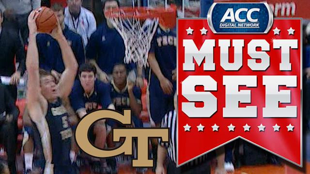Yellow Jackets Break Full Court Press and Finish With Daniel Miller Dunk | ACC Must See Moment