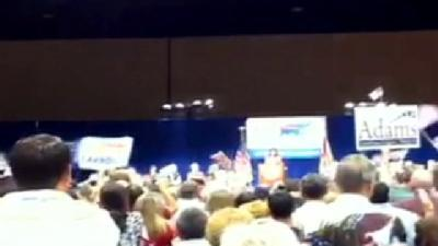 Raw Video: Sarah Palin Rallies In Orlando