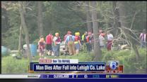 Man dies after falling into eastern Pennsylvania lake