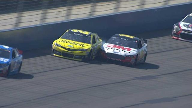 Biffle, Kenseth make contact