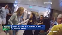 Inside the storm-rocked cruise ship