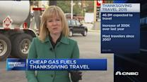 Cheap gas fuels Thanksgiving travel