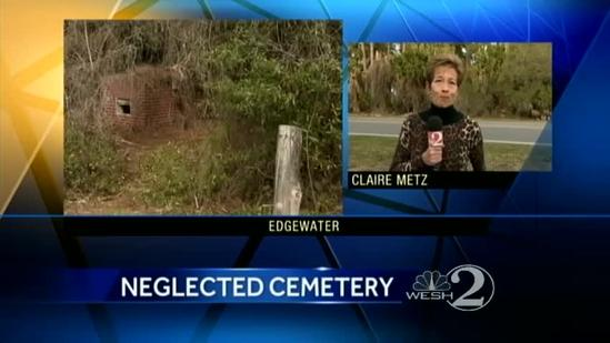 Neglected cemetery left in ruins by vandals