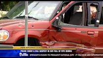 Police shoot, kill suspect in SUV full of pipe bombs