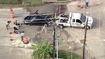 Sinkhole opens up in southwest Houston
