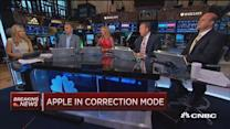 Apple in correction mode