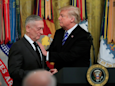 Mattis suggests he might not like Trump 'one fricking bit' but says he's holding fire on him — for now