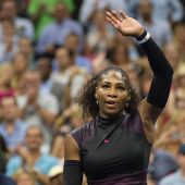 Serena Williams aces US Open fashion in a fabulous black and pink tennis dress