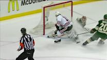 Bryzgalov makes toe save on Sharp's breakaway