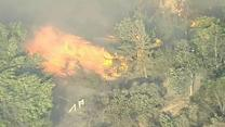 Wildfire rages out of control in Ventura County