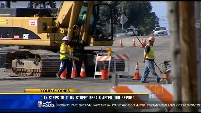 City steps to it on street repair after News 8 report