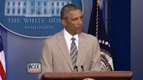 Social Media Reacts To Obama's Tan Suit