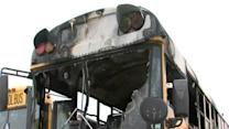 TPS bus engulfs in flames