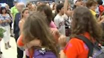 Tearful homecoming as Houston teens return from Israel
