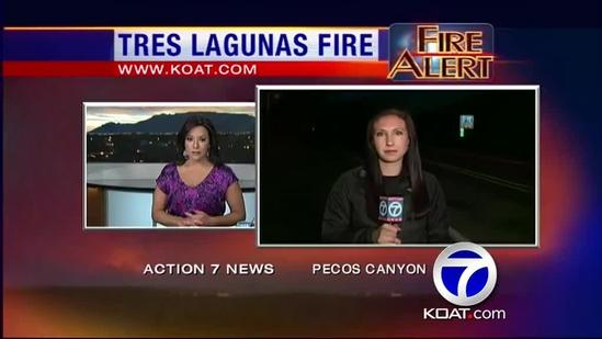 Tres Lagunas Fire Morning Update