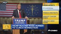 CNBC update: Trump reaches delegates needed