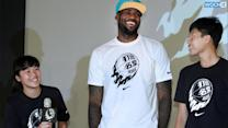 LeBron James Strips Down To His Underwear In Taiwan