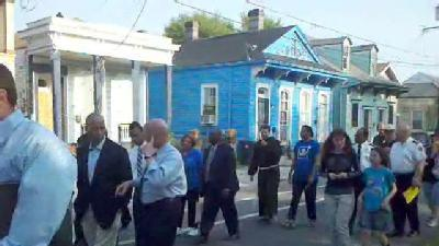 Residents March Against Crime In St. Roch