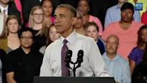 Economic numbers bring boost for Obama