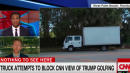Box Truck Blocks Media's View Of Trump Getting 'Back To Work' (a.k.a. Playing Golf)