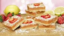 A Strawberry Spin on Classic Lemon Bars