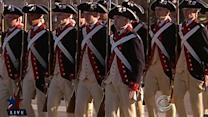 Obama reviews the troops for 2nd inauguration