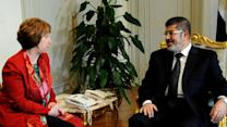 EU official meets with ousted Egyptian president