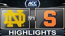 Notre Dame vs Syracuse | 2014 ACC Basketball Highlights