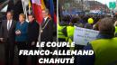 Macron et Merkel copieusement hués à Aix-la-Chapelle