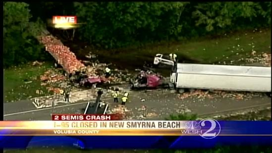 I-95 SB shut down near New Smyrna Beach