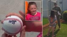 Girl, 7, Leaves Line for Baseball Player's Autograph to Ask Uniformed Soldier to Sign Her Ball Instead