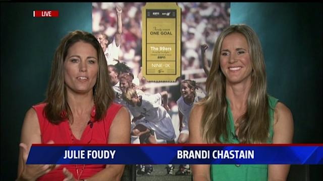 Brandi Chastain on Taking Off Her Shirt, New World Cup Documentary