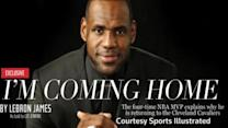 Lebron James going home to Cleveland Cavaliers