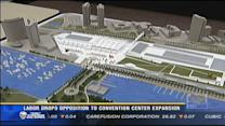Labor drops opposition to convention center expansion