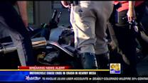 Motorcycle chase ends in crash in Kearny Mesa