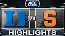 Duke vs Syracuse | 2014 ACC Basketball Highlights