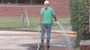 Blood Leaks Onto Road From Funeral Home Like A Scene From A Horror Movie